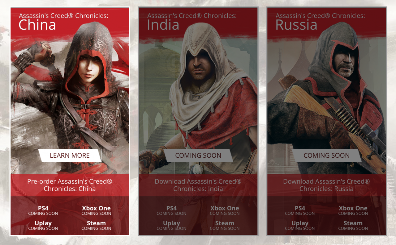 Assassin S Creed Chronicles India And Russia Releasing In Early