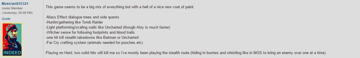 Первый отзыв игрока, который прошел Horizon Zero Dawn