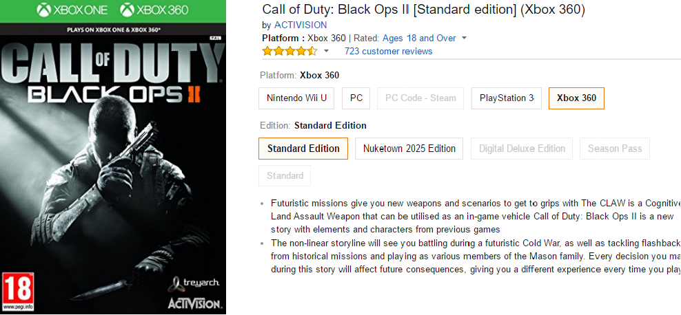 black ops 2 listing