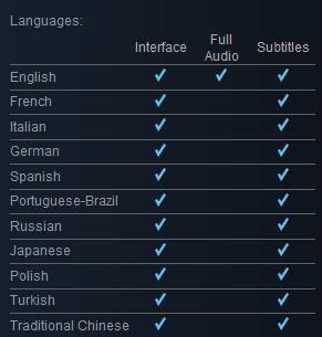 NArcosis Languages