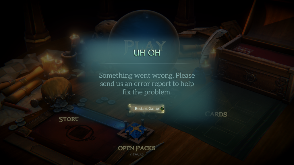Fable Fortune error