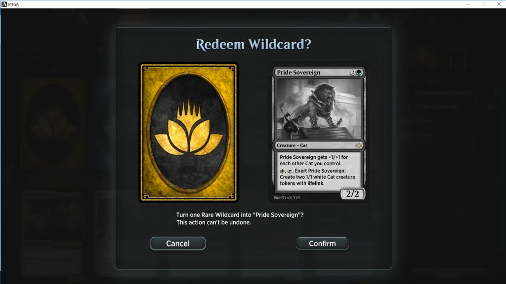 MTGA wildcard
