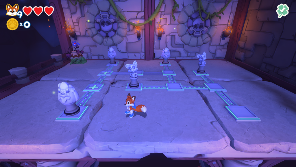 Super Lucky's Tale sliding puzzle