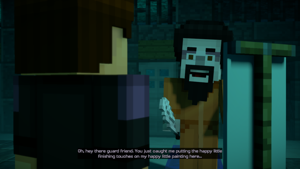 Minecraft_ Story Mode - Season Two bob ross