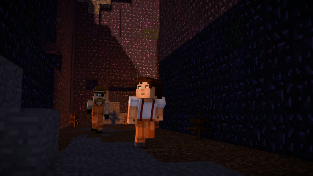 Minecraft_ Story Mode - Season Two prison escape