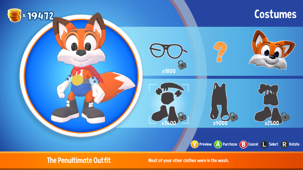 Super Lucky's Tale - costumes