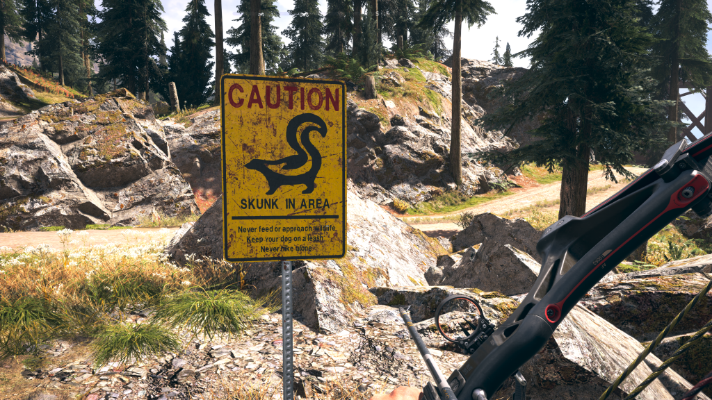 Far Cry 5 caution skunk