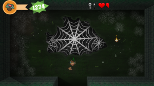 You can actually walk on those spiderwebs - pretty cool!