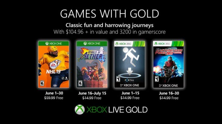 Games with Gold June 2019