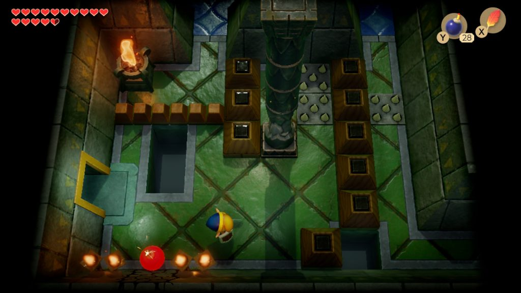 Link's Awakening Bomb Crack in wall