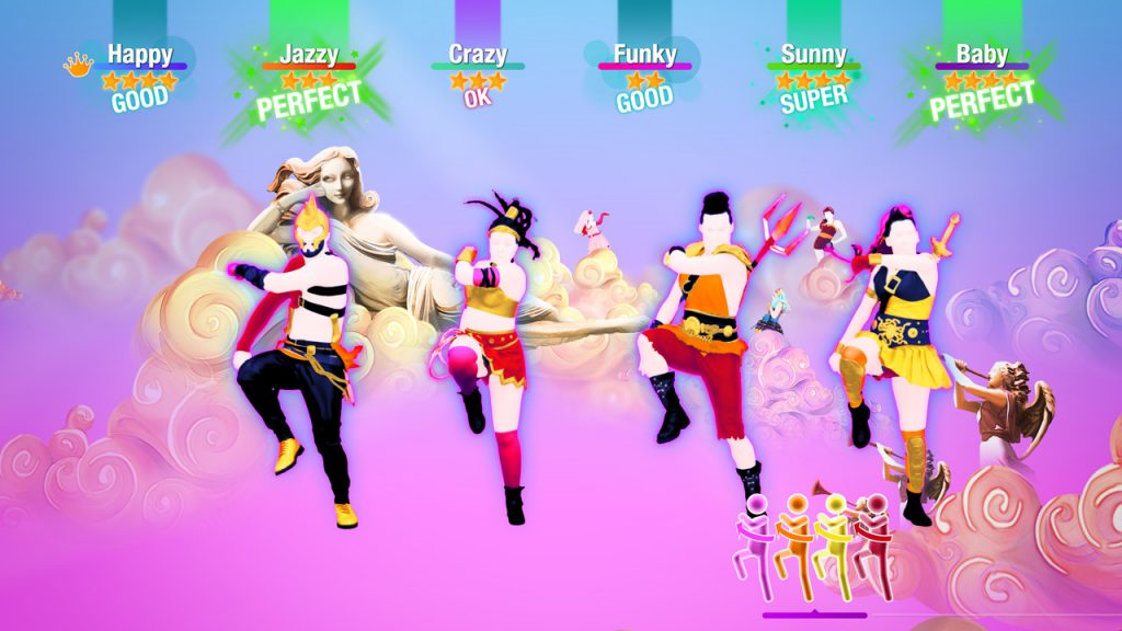 Just Dance 2020 outfits and background