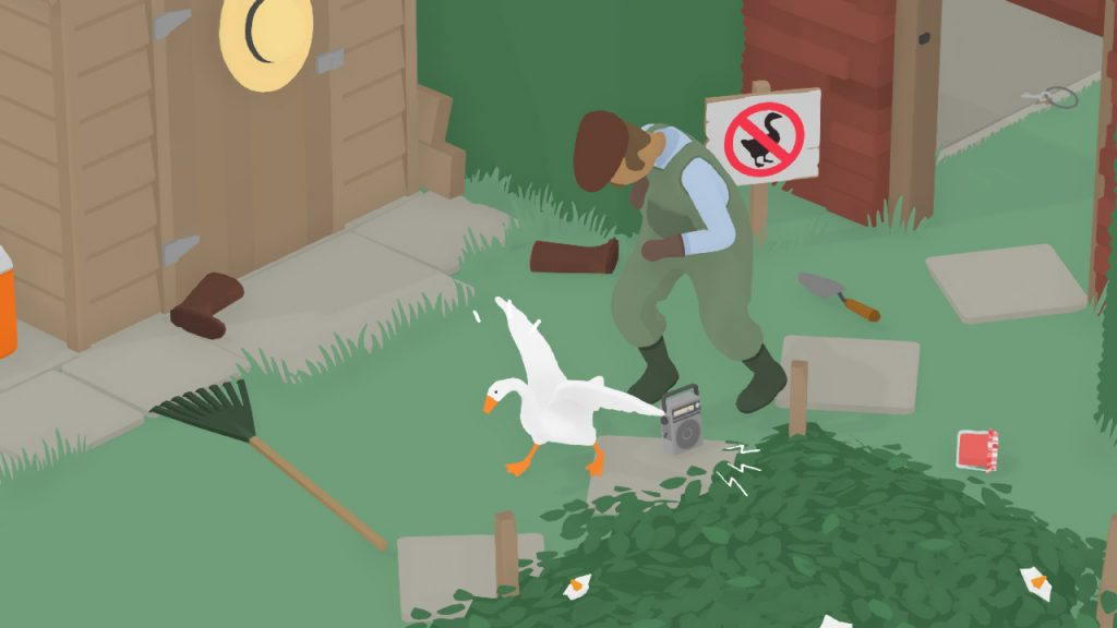 Untitled Goose Game - annoy the gardener